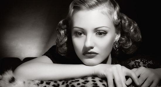 Film Noir style. Female portrait