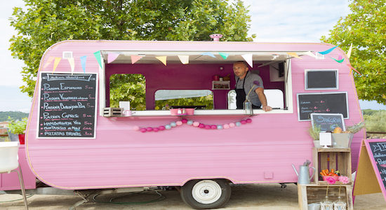 Pink food truck